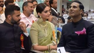 Akshay, Sonam attend National Awards gala with families