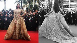 Cannes 2017: Sonam Kapoor stuns as she walks the red carpet in golden Elie Saab ensemble! (PICS inside)