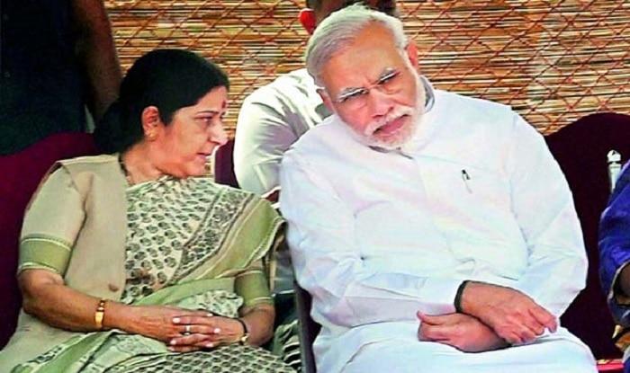 Sushma Swaraj with PM Modi (image: PTI/File)
