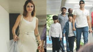 PHOTOS: Hrithik Roshan with sons Hrehaan and Hridhaan go on lunch date with Sussanne Khan