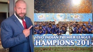 Triple H Sends Customised WWE Championship Belt to Mumbai Indians For Winning IPL 2017