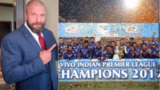 Triple H congratulates Mumbai Indians for winning IPL 2017, sends a gift as well