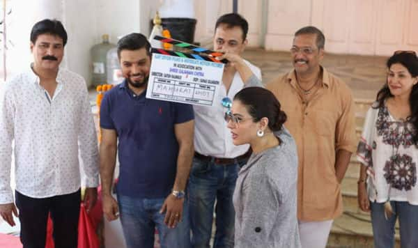 Kajol and Ajay Devgn kickstart the shoot of their Marathi production