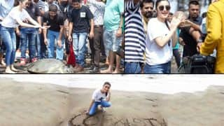 Alia Bhatt announces her ecological initiative Coexist by releasing green sea turtle into the sea - view pics