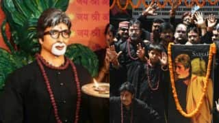 Amitabh Bachchan life-size statue built by fans in Kolkata temple! See pictures of Big B's sculpture