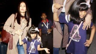 Aishwarya Rai Bachchan on Aaradhya being camera friendly:  I didn't even know that she was looking into the camera and making that cute little pose