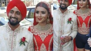 Bride ditched her lehenga for shorts at her wedding party and the internet came up with the funniest jokes! See pictures and videos