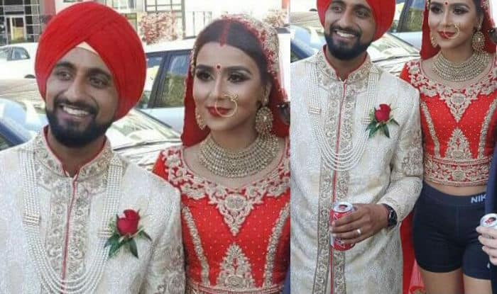 Bride ditched her lehenga for shorts at her wedding party