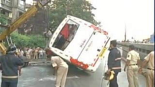 Dadar: One dead, 34 injured after luxury bus rams into road divider