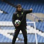 Antonio Conte 'kidnapped' from his press conference by David Luiz and Diego Costa