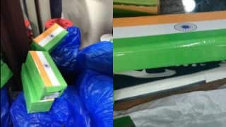 Indian Flags printed on Shoeboxes used in Rajasthan shop! FIR filed against shopkeeper for using Tricolour picture