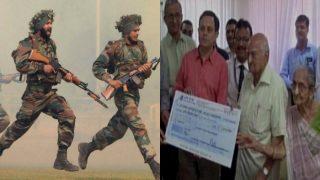 भारतीय सेना को 84 साल के बुजुर्ग ने डोनेट किए 1 करोड़ रुपये