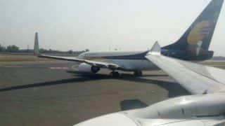 Runway incursion at Delhi airport averted as tail of Srinagar-bound Jet Airways flight hits another plane