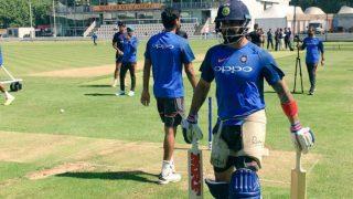 India vs Sri Lanka 1st Test: Virat Kohli Tries Front Foot Drives With Shorter Bat Handle in Practice