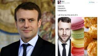 Emmanuel Macron or Macaron? French President elect is being confused with the delicious confectionery