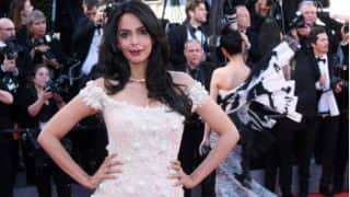 Cannes 2017: Mallika Sherawat channels her inner princess, looks demure and subdued in a Georges Hobeika gown
