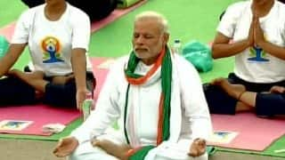 International Yoga Day 2017: PM Narendra Modi Performing Yoga in Lucknow Telecast at Doordarshan