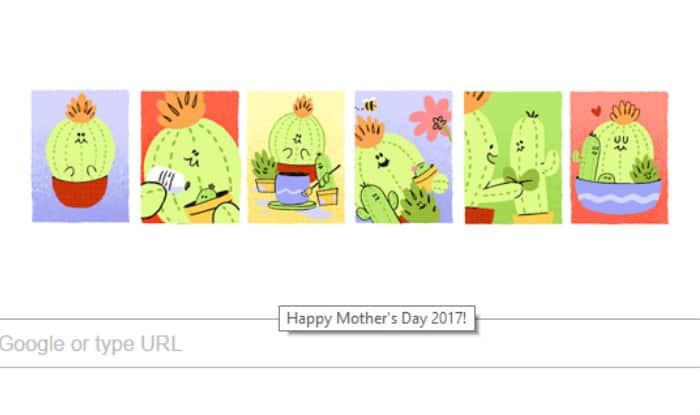 Mother's Day 2017: Google celebrates motherhood with a special 'cactus mom' doodle
