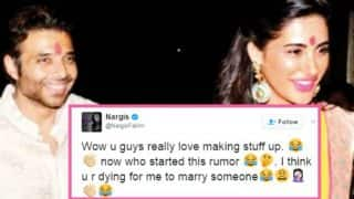 Nargis Fakhri rubbishes rumour of marriage with ex-boyfriend Uday Chopra & bashes a daily all in one Tweet!