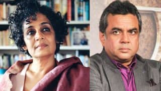 Twitter War! BJP lawmaker Paresh Rawal deletes controversial tweet on author Arundhati Roy! Here's why