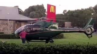 Hungry pilot lands helicopter at McDonald's in Australia (Watch Video)