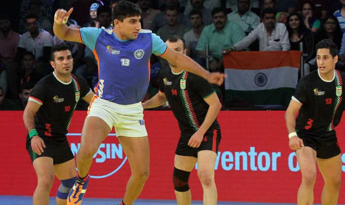 Nitin Tomar attracted a bid of INR 93 lakhs | Image: prokabaddi.com
