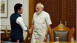 'सचिन: ए बिलियन ड्रीम्स' की रिलीज से पहले पीएम मोदी से मिलने पहुंचे सचिन तेंदुलकर