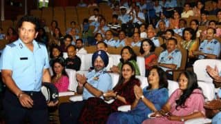 Sachin Tendulkar receives standing ovation at special screening of biopic Sachin: A Billion Dreams from armed forces