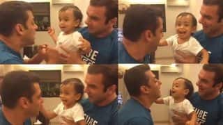 Salman Khan teaches nephew Ahil to fight like Sultan and gets a knock out punch! (Watch video)