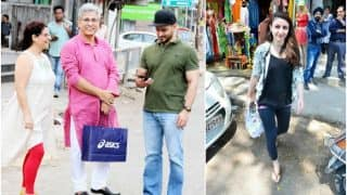 SPOTTED: Pregnant Soha Ali Khan's husband Kunal Kemmu shares a light moment with his parents