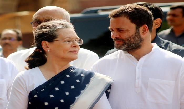 Congress President Sonia Gandhi and party vice president Rahul Gandhi