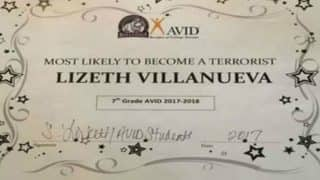 'Most Likely To Become A Terrorist' Award given to a 13-year old! Texas Teacher questioned on bizarre joke!