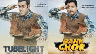 Riteish Deshmukh copies Salman Khan's Tubelight and Aamir Khan's Dangal posters for Bank Chor movie promotions! See hilarious results