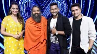 Nach Baliye 8: Baba Ramdev makes judges and the contestants do YOGA on stage!! Watch video