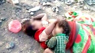 Baby tries to breastfeed on dead mother lying beside railway track in Damoh, MP! Heartbreaking video surfaces
