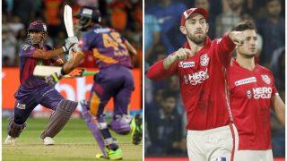 IPL 2017: राइजिंग पुणे सुपरजाएंट और किंग्स इलेवन पंजाब में प्लेऑफ में पहुंचने की जंग