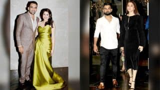 Zaheer Khan-Sagarika Ghatge engagement party pictures, Virat Kohli-Anushka Sharma walk hand-in-hand and steal all the attention!