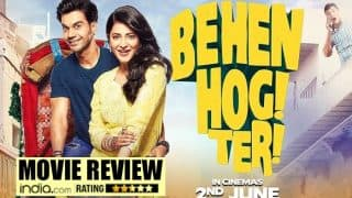 Behen Hogi Teri movie review: Rajkummar Rao delivers yet another earnest performance, while Shruti Haasan is a misfit