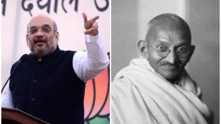 महात्मा गांधी पर बोले अमित शाह- वो बहुत चतुर बनिया था