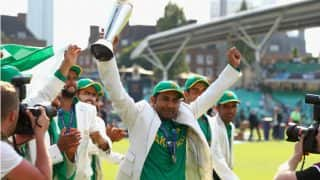 Following Champions Trophy win Sarfraz Ahmed hopes for revival of international cricket in Pakistan