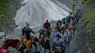 Amarnath Yatra Resumes From Pahalgam, Baltal Routes After Weather Improves