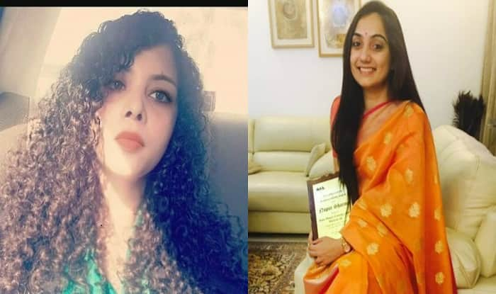 Journalist Rana Ayyub and BJP spokesperson Nupur Sharma. (Twitter images)