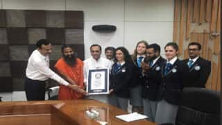 Amit Shah joins Baba Ramdev's yoga event broke a world record