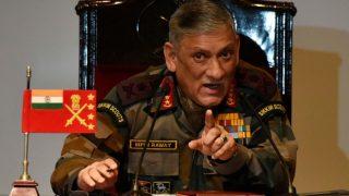 कश्मीर में हो रही हिंसक घटनाओं के बीच आर्मी चीफ जनरल बिपिन रावत ने दिया बड़ा बयान