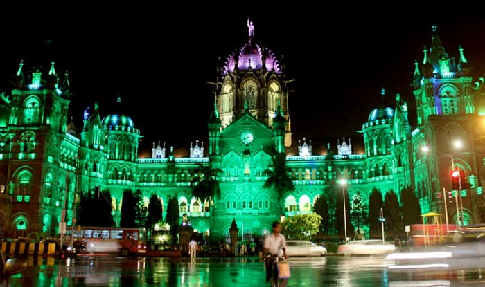 Mumbai Cst Station Says Eid Mubarak Gets Illuminated In