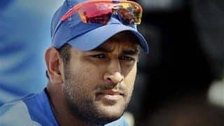 MS Dhoni Fan Falls at His Feet: Watch Video