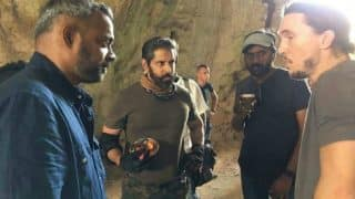 Dhruva Natchathiram on the sets: Chiyaan Vikram looks intense and impressive while shooting in Bulgaria