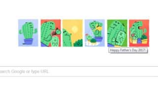 Father's Day 2017 Google Doodle got cactus daddy and his baby wishing Happy Father's Day!