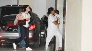 The cutest mother-son duo Kareena Kapoor Khan and Taimur Ali Khan spotted at Babita's residence