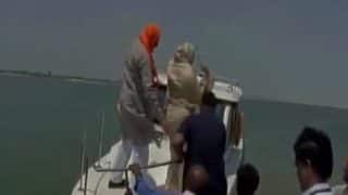 BJP MP Priyanka Rawat throws plastic bottle in Saryu river as UP Water Resources Minister watches (Watch video)